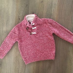 4T Cat & Jack Red Button Sweater -Q4